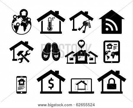 Real estate icons set 04