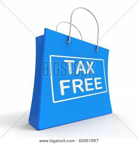 Tax Free Shopping Bag Showing No Duty Taxation poster
