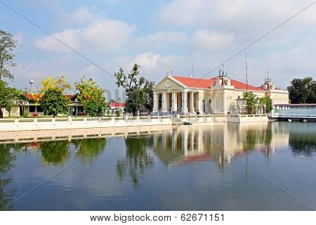 Bang Pa-In Palace in Ayutthaya Province in Thailand poster