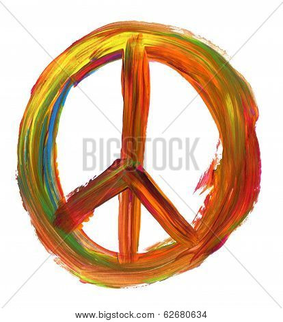 Hand Painted Peace Sign