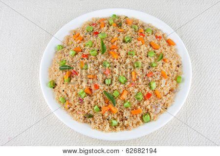 porridge from dry roasted semolina.