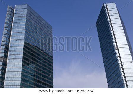 beijing: modern glass buildings