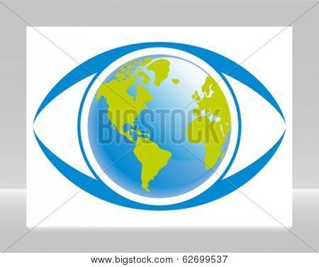 World eye vector.