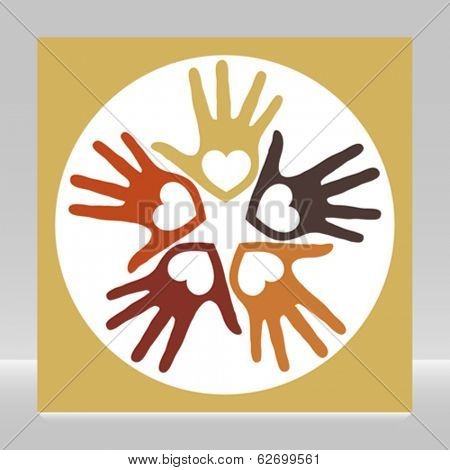 Circle of loving hands.
