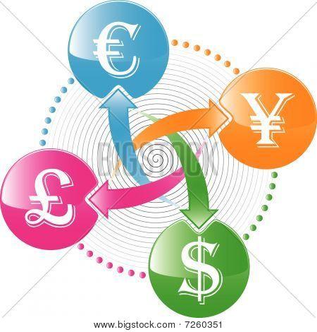 icono de cambio de dinero