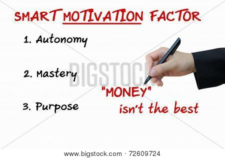Smart Motivation of Business Concept