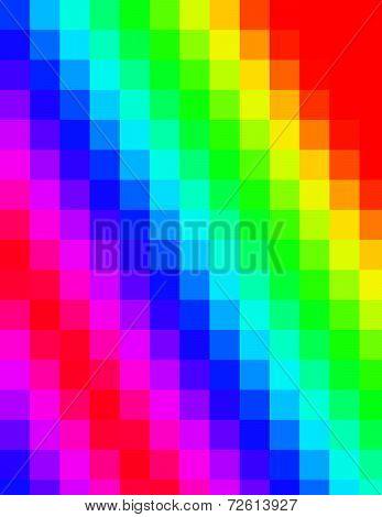 Pixelated Rainbow Background