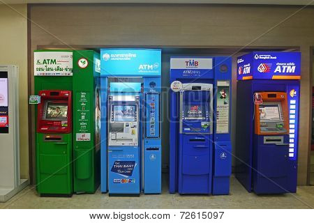 Atm Units By Different Thai Banks