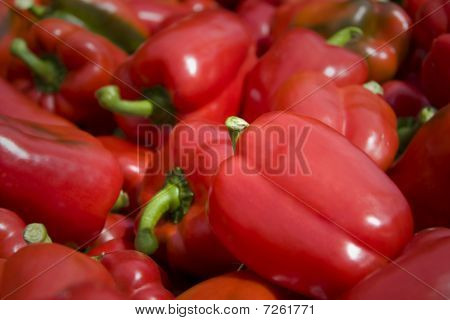 Fresh Sweet Red Bell Peppers