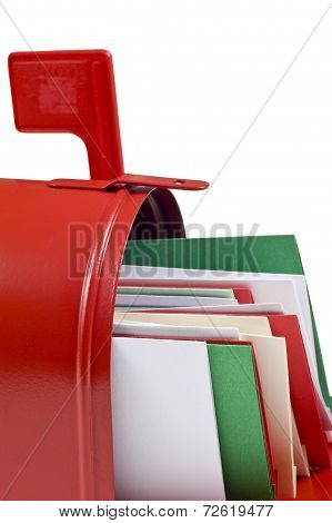 Santa Mailbox With Letters