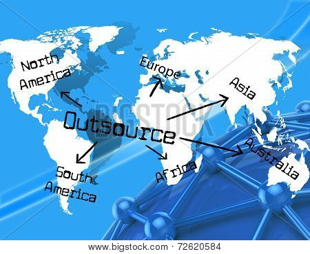 Outsource Worldwide Indicates Independent Contractor And Earth