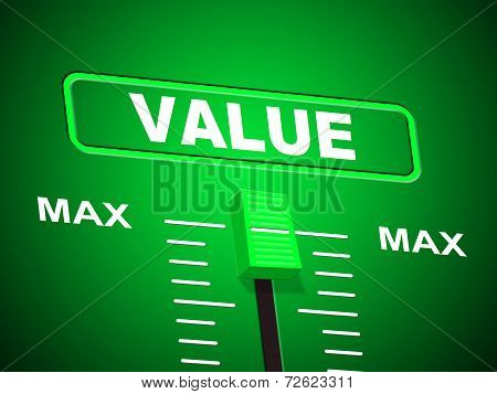 Value Max Indicates Upper Limit And Ceiling