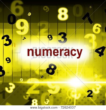 Numeracy Education Represents One Two Three And Learning