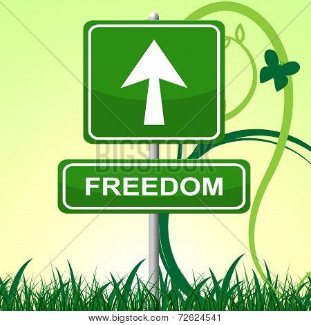 Freedom Sign Means Break Out And Display
