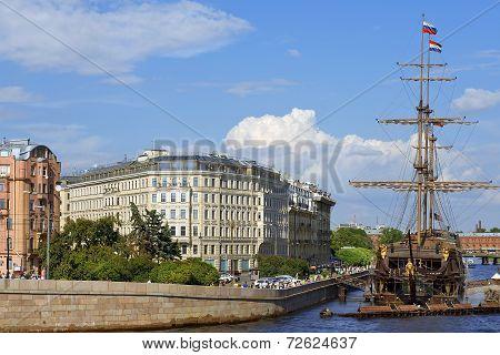 Sailboat Flying Dutchman, Saint Petersburg, Russia