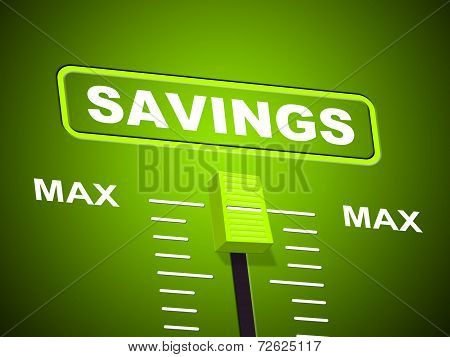 Savings Max Means Upper Limit And Increase