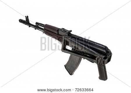 assault rifle aks74 isolated on a white background poster