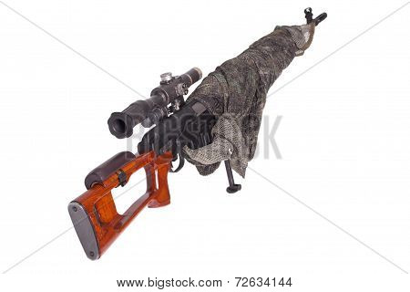 Camouflaged Sniper Rifle