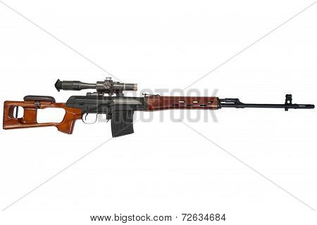 soviet army sniper rifle SVD by Dragunov with optic sight poster