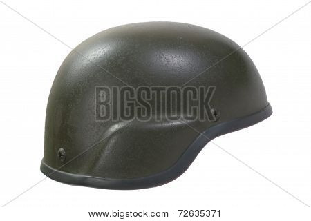 Advanced Combat Helment (ach) Isolated On A White Background