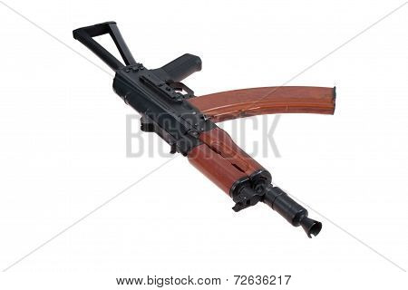 Special Forces assault rifle isolated on a white background