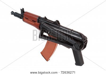 Kalashnikov Airborn Aks74U Isolated On A White Background