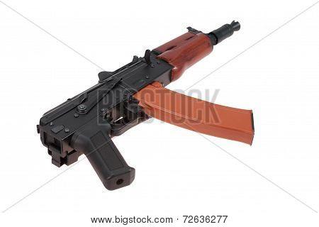 Short Kalashnikov Aks74U Isolated On A White Background