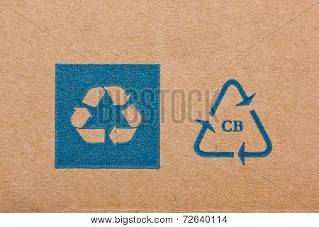 Ecycling Code On Cardboard.