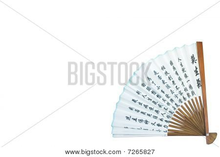 Asian Fan Isolated On White