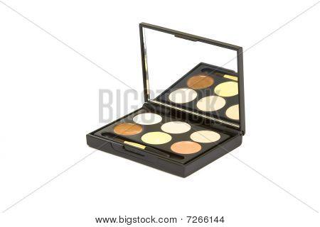 Box With Eyeshadow  Isolated