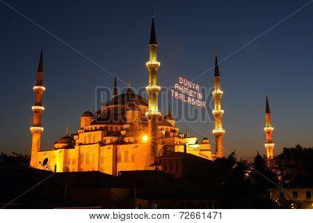 Blue Mosque during 2012 ramadan, ?stanbul