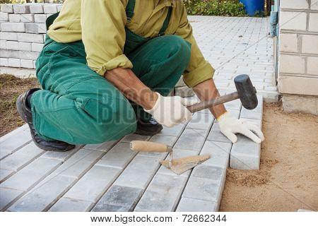 Work On Creating Sidewalk