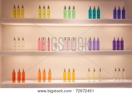 Fragrances On Display At Homi, Home International Show In Milan, Italy