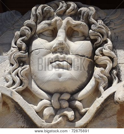 Gorgon Medusa in temple of Apollo