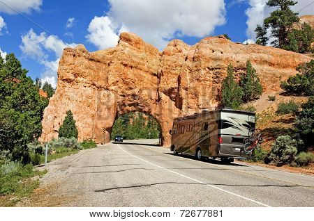Highway Tunnel At Red Canyon In Utah