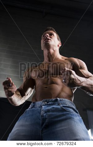 Strong Young Man With A Muscular Physique