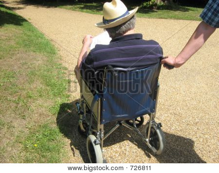 Wheelchair.Disability.Taking Care Of Elderly People