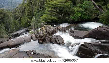 Waterfall in Puerto Blest