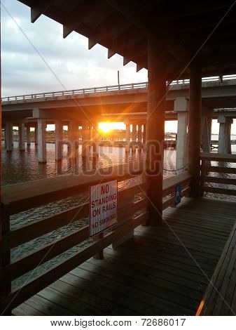 Sunrise at St. Tammany Parish Pier