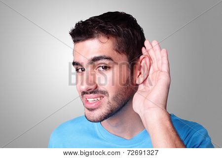 Young Student Listen By Ear