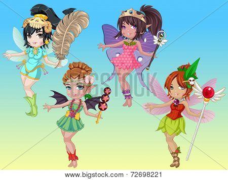 Cute Fantastic Pixie Girls