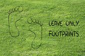 sustainability tourism and ecology: leave only footprints poster