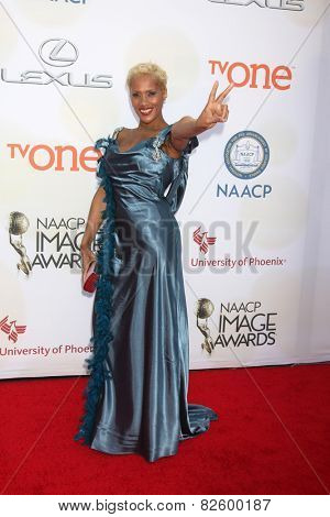 LOS ANGELES - FEB 6:  Suki Avery at the 46th NAACP Image Awards Arrivals at a Pasadena Convention Center on February 6, 2015 in Pasadena, CA