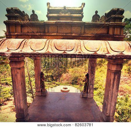 Gate in Hindu temple, Sri Lanka.