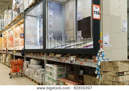 MOSCOW, RUSSIA - March 23, 2015: shopping in chain stores OBI. German retail chain stores of constru