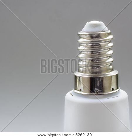 Close view of european lamp screw E14 poster