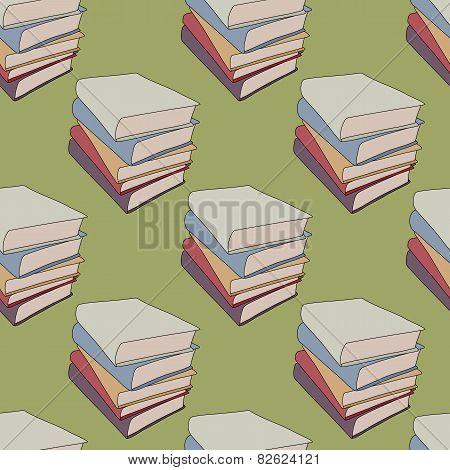 Seamless Cartoon Books Background