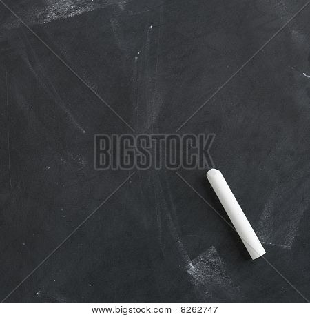 Blank Blackboard And Chalk Straight On 3