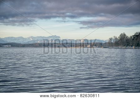 An image of the Zugspitze in Bavaria Germany