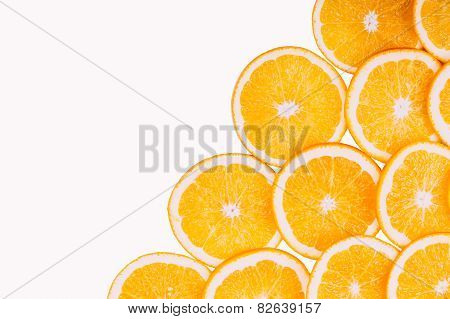 Orange Fruit Background. Summer Oranges. Healthy Food